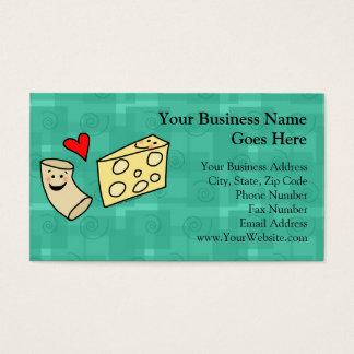 Mac Loves Cheese, Funny Cute Macaroni + Cheese Business Card