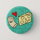 Mac Loves Cheese, Funny Cute Macaroni + Cheese Button