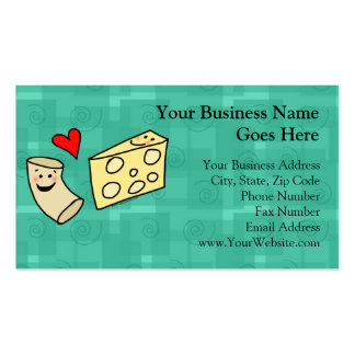 Mac Loves Cheese, Funny Cute Macaroni + Cheese Double-Sided Standard Business Cards (Pack Of 100)