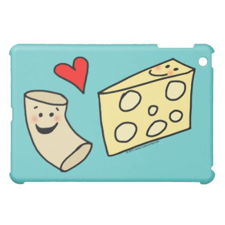 Mac Loves Cheese, Funny Cute Macaroni + Cheese iPad Mini Cover