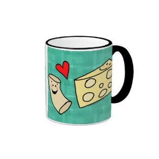 Mac Loves Cheese, Funny Cute Macaroni + Cheese Mug