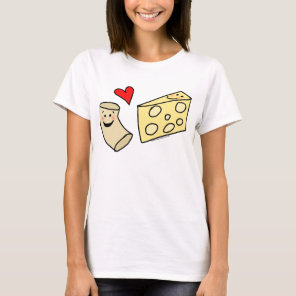 Mac Loves Cheese, Funny Cute Macaroni   Cheese T-Shirt