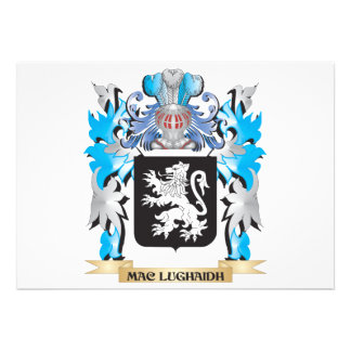 Mac-Lughaidh Coat of Arms - Family Crest Custom Invites