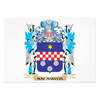 Mac-Marcuis Coat of Arms - Family Crest Invitation