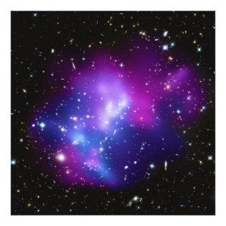 MAC masivos J0717 del racimo de la galaxia Impresión Fotográfica