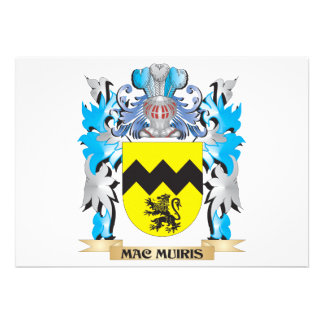 Mac-Muiris Coat of Arms - Family Crest Custom Invitations