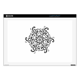 """Mac & PC Skin-Black and White Design Decals For 17"""" Laptops"""