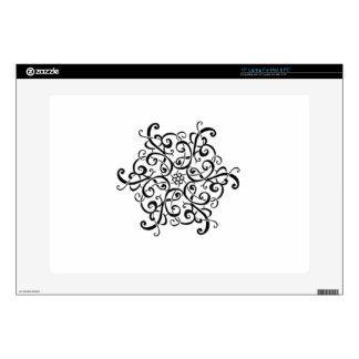 Mac & PC Zazzle Skin-Black and White Design Laptop Decals