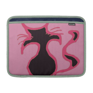 Mac rosado del gato negro funda macbook air
