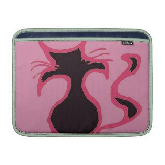 Mac rosado del gato negro fundas macbook air