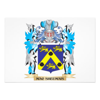 Mac-Sheumais Coat of Arms - Family Crest Custom Invites