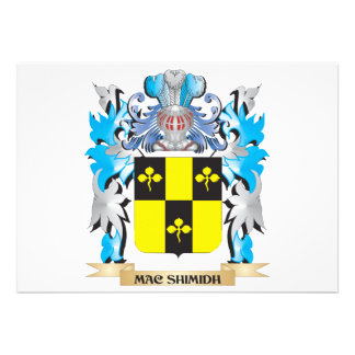 Mac-Shimidh Coat of Arms - Family Crest Custom Invitations