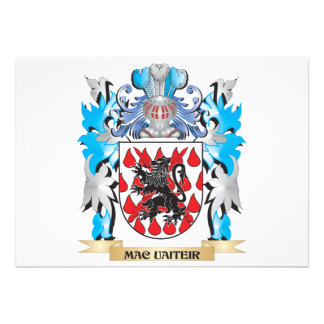 Mac-Uaiteir Coat of Arms - Family Crest Custom Announcement