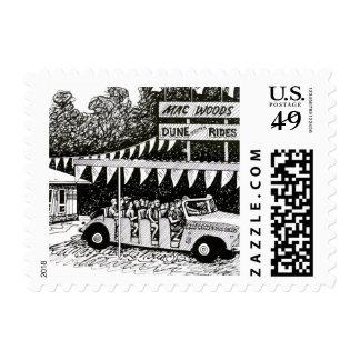 Mac Woods Dune Scooter Postage Stamp Michigan