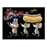 Mac y Moe 4to del Mic de la postal de la comida ca