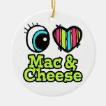 Mac y queso brillantes del amor del corazón I del  Ornamento Para Reyes Magos