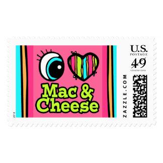 Mac y queso brillantes del amor del corazón I del Timbres Postales