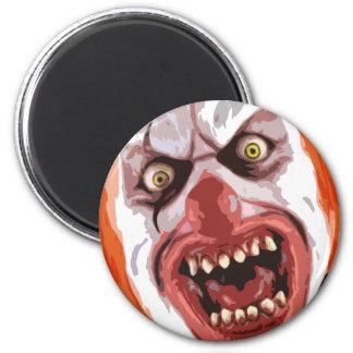 Macabre Clown 2 Inch Round Magnet
