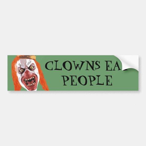 Macabre Clown Car Bumper Sticker