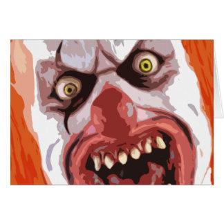 Macabre Clown Card