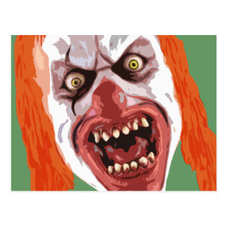 Macabre Clown Postcard