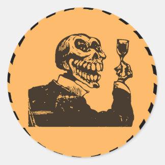 Macabre: Dia de los Muertos - A Toast Classic Round Sticker