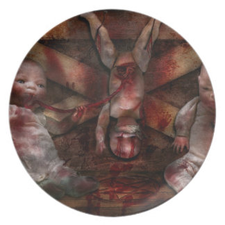 Macabre - Dolls - Having a friend for dinner Dinner Plates