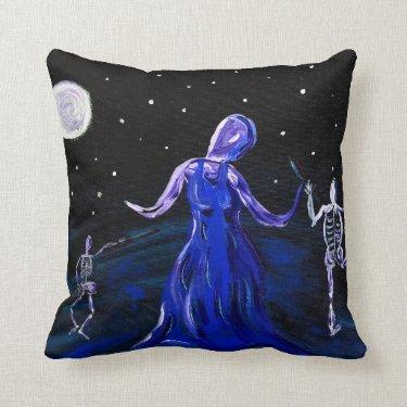 Macabre goth halloween pillow