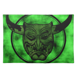 Macabre: Grinning Green Demon Cloth Placemat