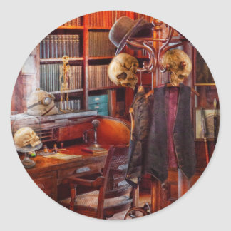 Macabre - In the Headhunters study Classic Round Sticker