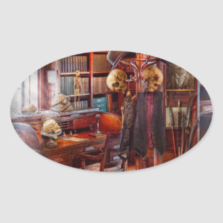 Macabre - In the Headhunters study Oval Sticker