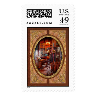 Macabre - In the Headhunters study Postage Stamp