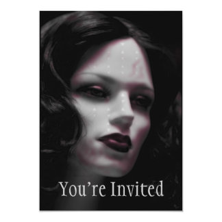 Macabre Lady Mannequin 5x7 Paper Invitation Card