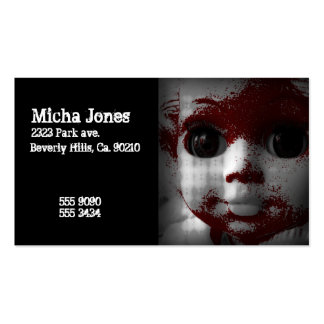 Macabre Living Dead Doll Business Cards