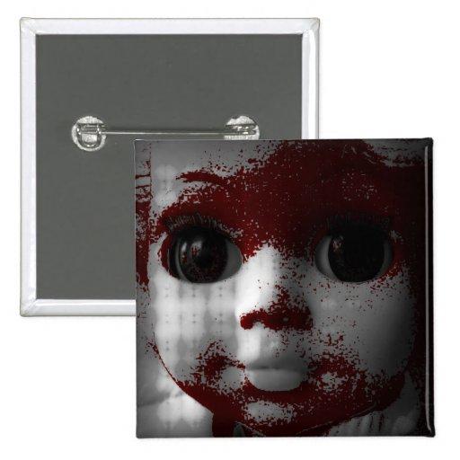 Macabre Living Dead Doll Pinback Button