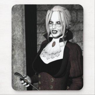 Macabre Mistress Gothic Vampire Art Mousepad mousepad