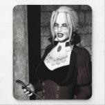 Macabre Mistress Gothic Vampire Art Mousepad