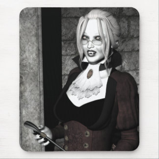 Macabre Mistress Gothic Vampire Art Mousepad