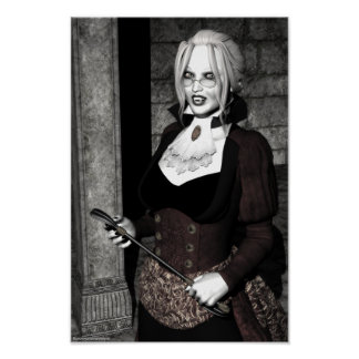Macabre Mistress Gothic Vampire Poster