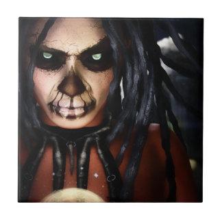 Macabre Voodoo Ceramic Tile