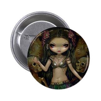 Macabro de Danse Botón de la fusión tribal Pin