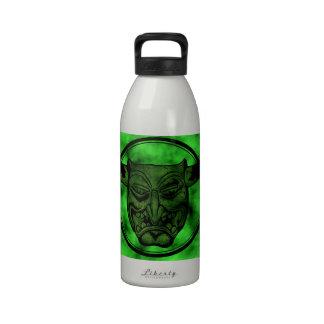 Macabro Mueca del demonio verde Botellas De Agua Reutilizables