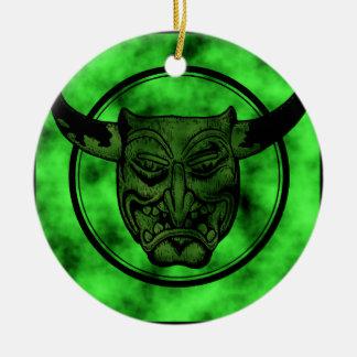 Macabro Mueca del demonio verde Adorno De Reyes