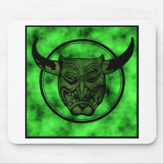 Macabro: Mueca del demonio verde Tapete De Ratones