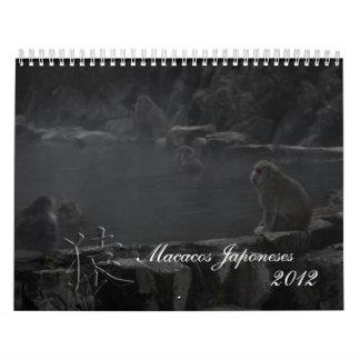 Macacos Japoneses Wall Calendars