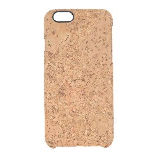 Macadamia Cork Burl Look Uncommon Clearly™ Deflector iPhone 6 Case