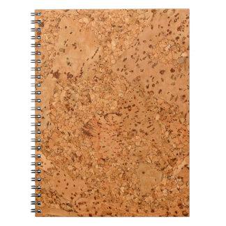 Macadamia Cork Burl Look Spiral Note Books