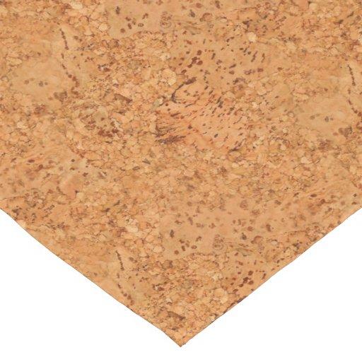 Macadamia Cork Burl Wood Grain Look Short Table Runner