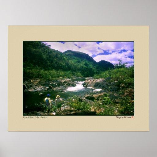 Macal River Falls - Black Rock - Belize Posters