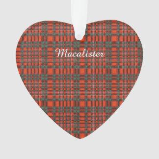 Macalister clan Plaid Scottish tartan